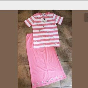 Quacker Factory 2 PC shirt & skirt set small